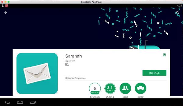 Cara Instal Sarahah untuk PC / Laptop Windows /Mac 5