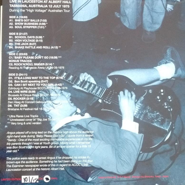 T.U.B.E.: AC/DC - 1975-07-08 - Launceston, Tasmania, AU (AUD/FLAC)