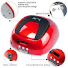 MelodySusie - 48W LED Nail Dryer - Nail Lamp Quick Curing  LED Gel & Gelish Nail Polish Professionally and Safely as Manicure Beauty Salon - With Timer Setting 5s/20s/30s (Chic Red)