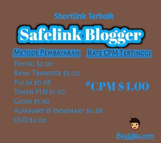 Safelink Blogger CPM tertinggi di Indonesia,