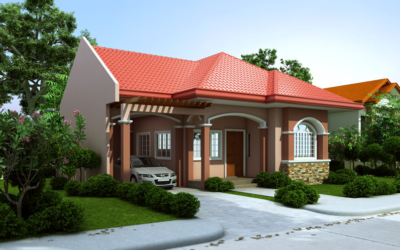 12 house with red colored theme roofing bahay ofw for House color design exterior philippines