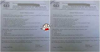 Surat perjanjian sekolah dan orangtua siswa