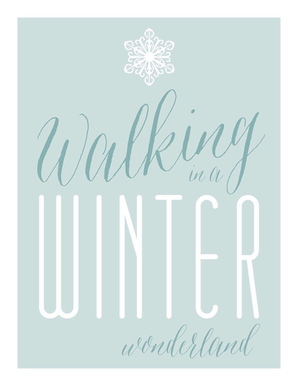 Free Printables Winter Wall Art