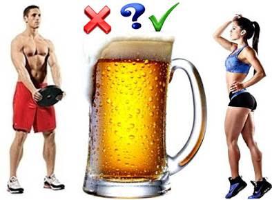Drinking beer after working out and lifting weights - Is it good or bad?