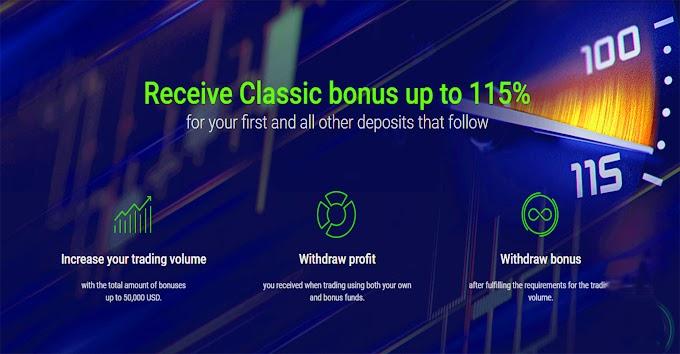115% Deposit bonus from Roboforex