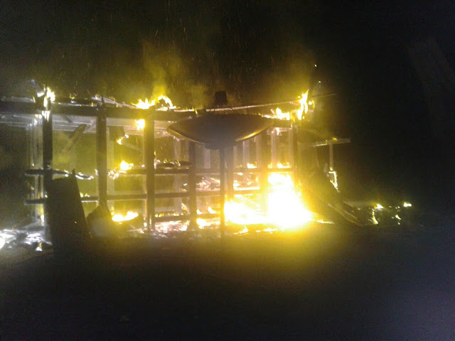 Rumah Adat Toraja di Balusu Ludes Dilalap Api
