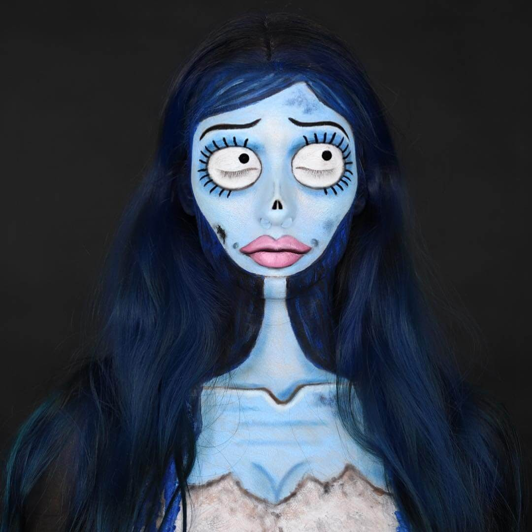 19-The-Corpse-Bride-Annie-Thomas-TV-Cartoon-Characters-on-Body-Painting-www-designstack-co