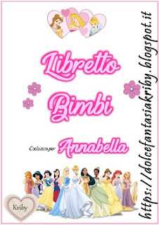libretto bimbe versione femminile da stampare