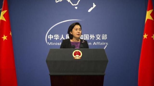China tacha de 'noticias falsas' mantener contactos con Guaidó