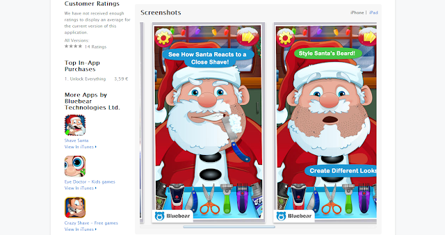 Shave Santa Claus beard this Christmas: Play crazy shave game on iPad, iPhone, iPod Touch