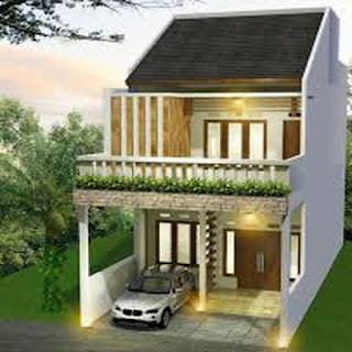 desain rumah minimalis 2 lantai dengan taman bunga