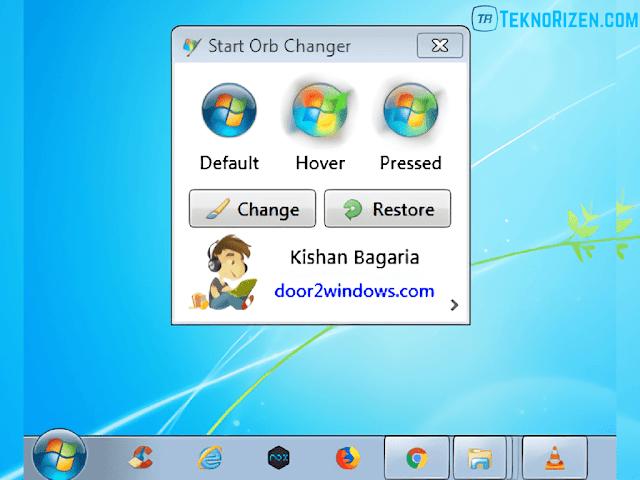 Cara Mengganti Start Orb atau Icon Start di Windows 7