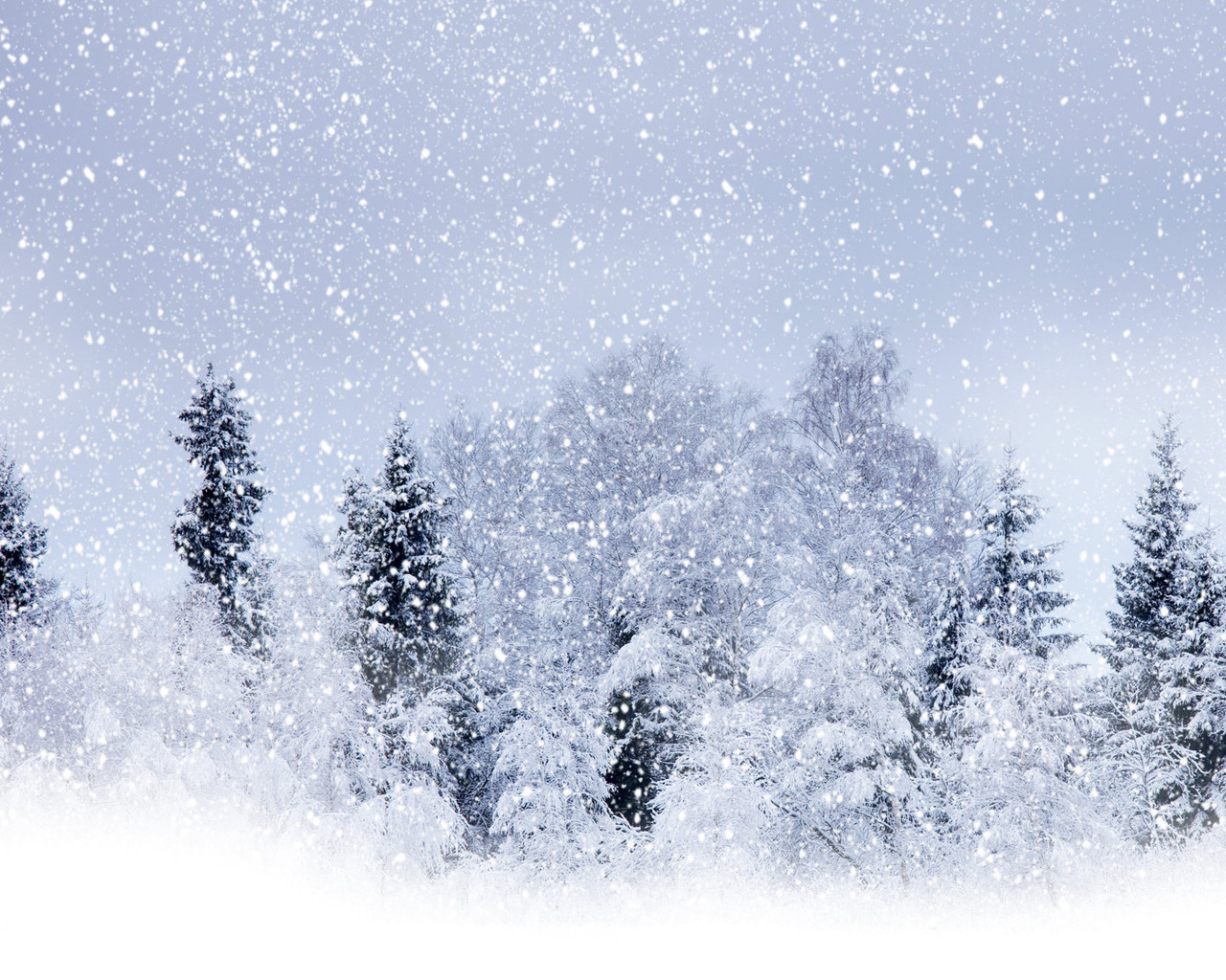 Beautiful Wallpapers Snowfall Wallpaper