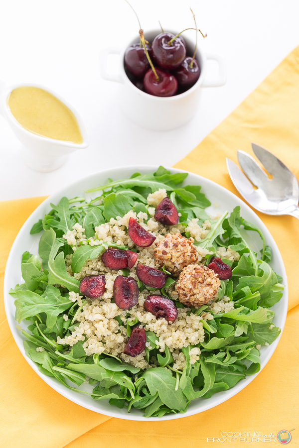 Arugula Quinoa Salad with Creamy Vinaigrette | Cooking on the Front Burner