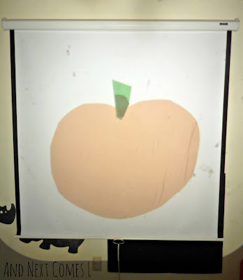 Jack-o-lantern play on the overhead projector from And Next Comes L