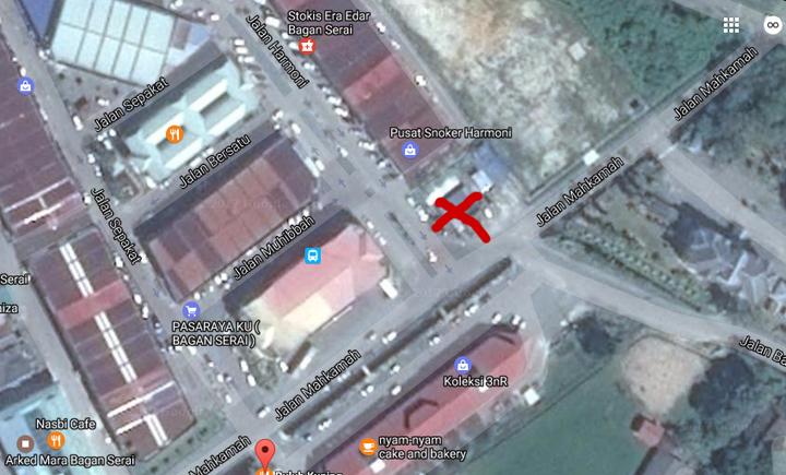 Lokasi Mee Kari Udang Besar RM7 di Bagan Serai, Perak