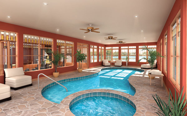 New home designs latest indoor home swimming pool for Pool design indoor