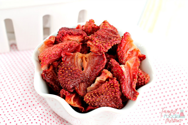 These easy Oven Dried Strawberries are the perfect way to preserve those sweet summer strawberries.