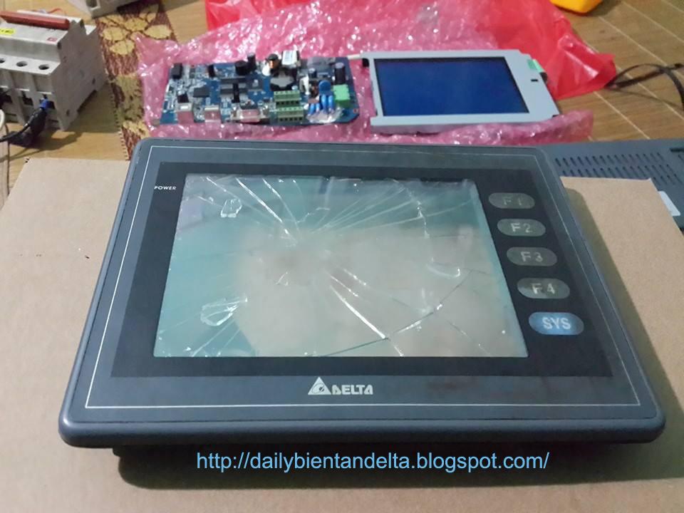 Sửa chữa bán màn hình HMI Delta DOP-AS57BSTD AE57CSTD A57GSTD, thay kính cảm ứng bị vỡ