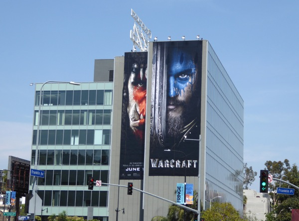 Giant Warcraft movie billboard