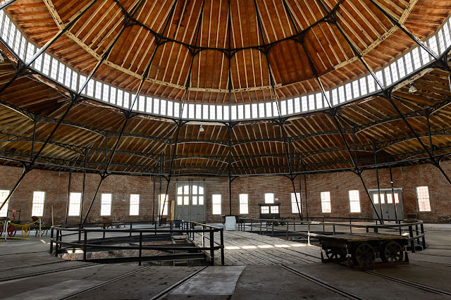 Inside the West Roundhouse in Martinsburg, WV