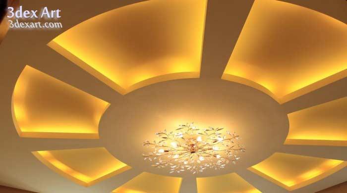 Latest false ceiling designs for living room and hall 2018 for False ceiling lighting ideas