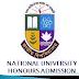 National University (NU) Honours Admission Date 2017