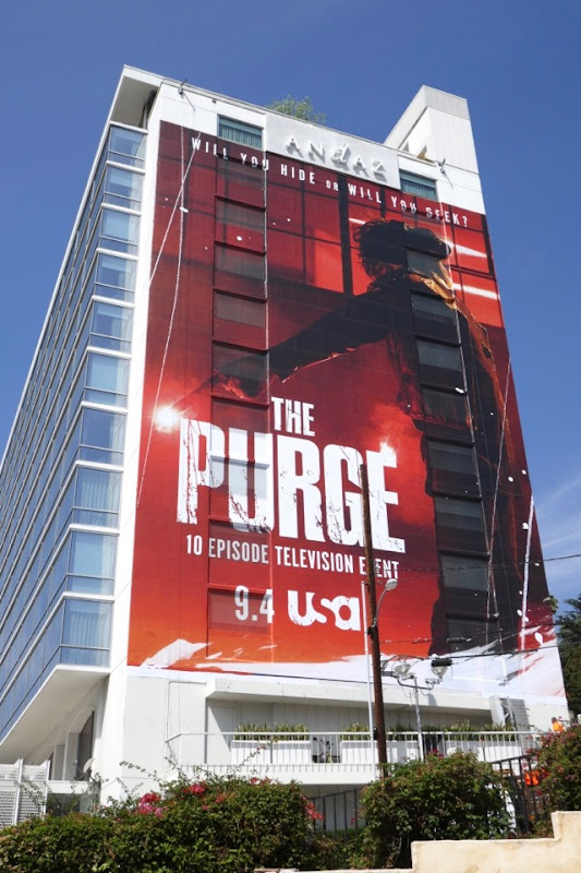Purge giant series launch billboard