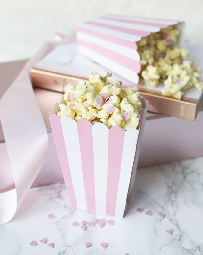 White Chocolate Valentine's Popcorn