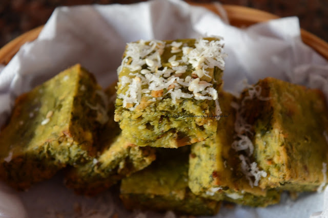 Kothimbir Vadi - Served with Ketchup or Green Chutney