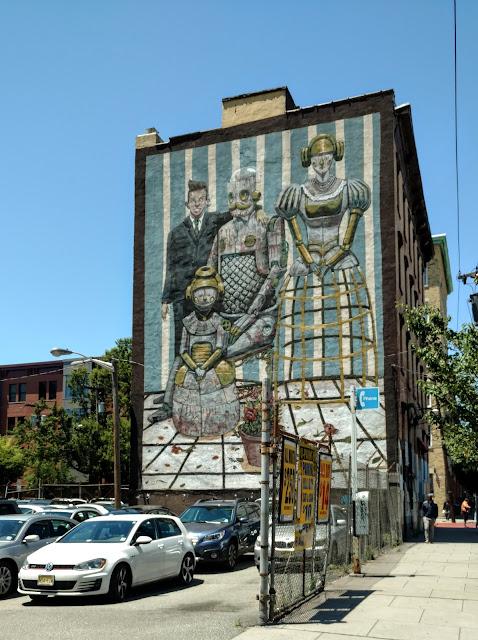 """Мурал Пікселя Панчо, Чорна Вівця, Джерсі-Сіті, Нью-Джерсі (Pixel Pancho. """"Black Sheep"""", Jersey City, NJ"""