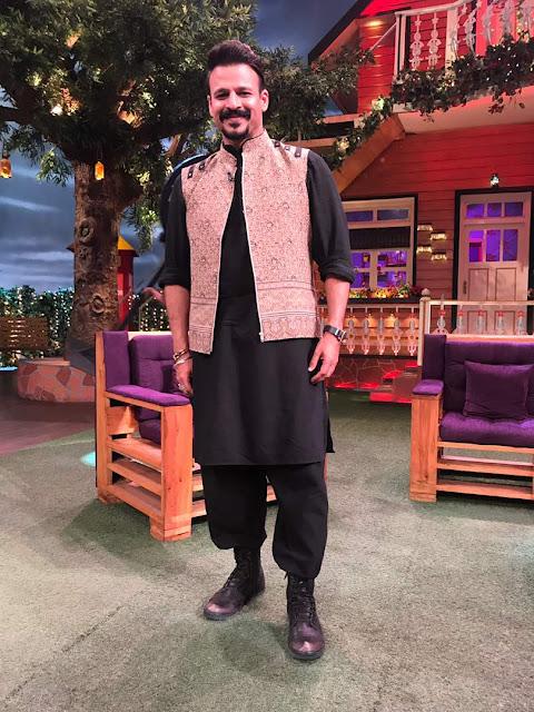 Actor Vivek Oberoi wearing Fahd Khatri in The Kapil Show