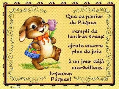 La fête de Pâques - życzenia 2 - Francuski przy kawie