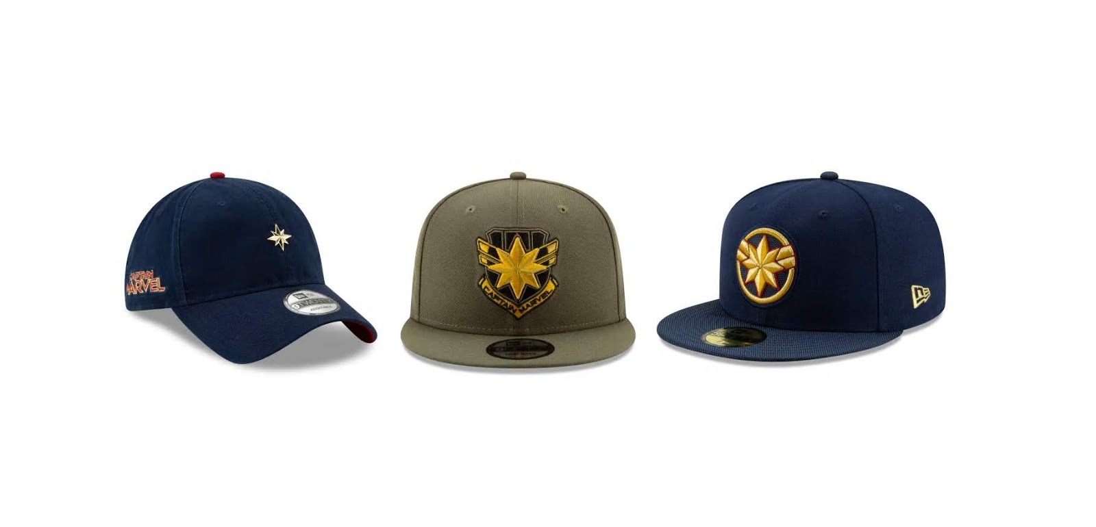edf44d1c871 The Blot Says...  Captain Marvel Hat Collection by New Era Cap x Marvel