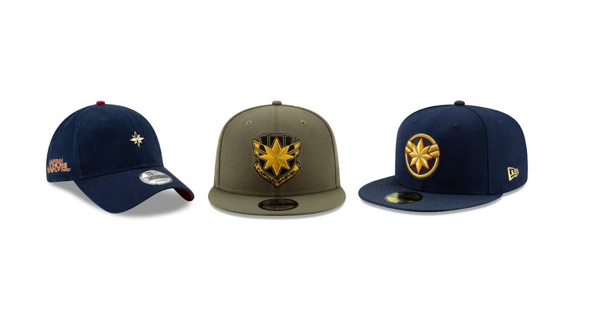 b322923133570 The Blot Says...  Captain Marvel Hat Collection by New Era Cap x Marvel