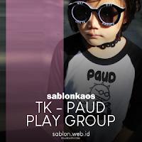 Sablon Kaos Anak TK Paud Play Group Raglan
