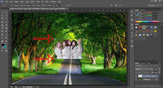 cara mengganti background pada foto menggunakan photoshop