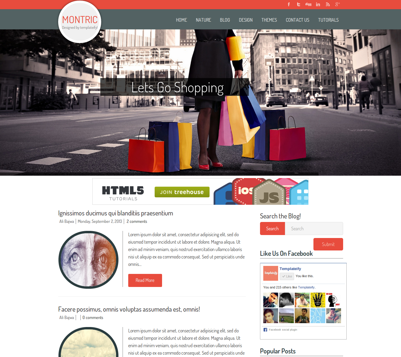 Montric Responsive Blogger Template Free Download