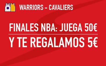 sportium Golden State vs Cavaliers: Apuesta 50 euros Final NBA 2016 regalo 5 euros
