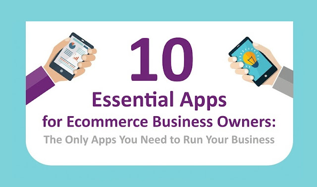 10 Essential Apps for Ecommerce Business Owners - Infographic