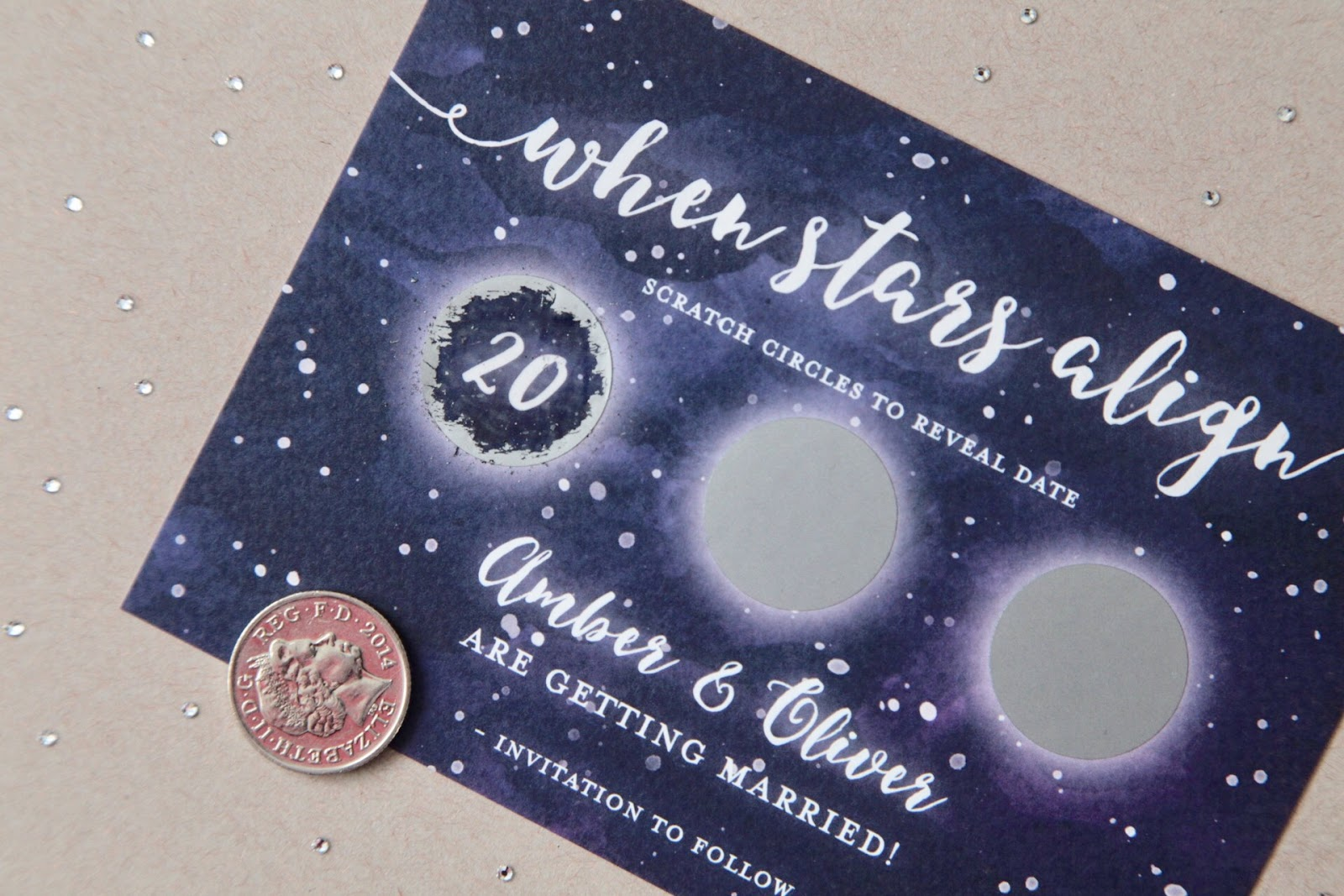 Scratch Off Save the Dates : When Stars Align
