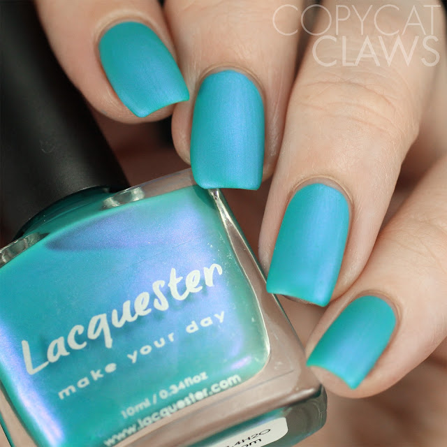 Lacquester CuAl6(PO4)4(OH)8.4H2O Swatch Matte