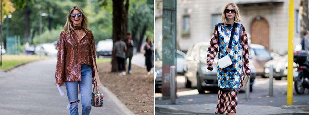 Jetzt wird's glamourös: Glitter-Tops sind der neueste Streetstyle-Trend!