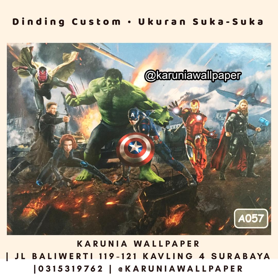 toko jual wallpaper marvel avengers surabaya