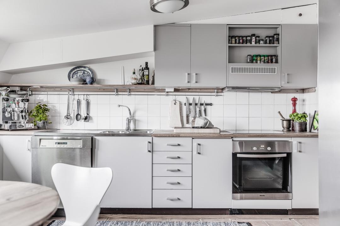 rustic scandinavian kitchen