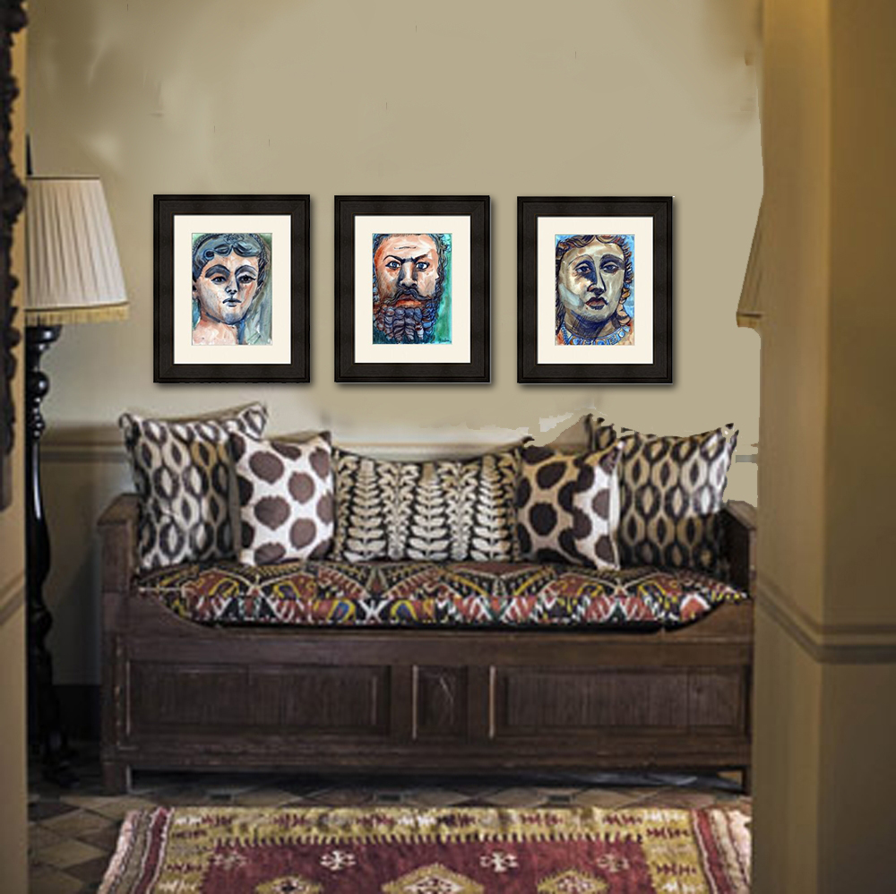Add Ethnic Asian Inspired Paintings To A Foyer