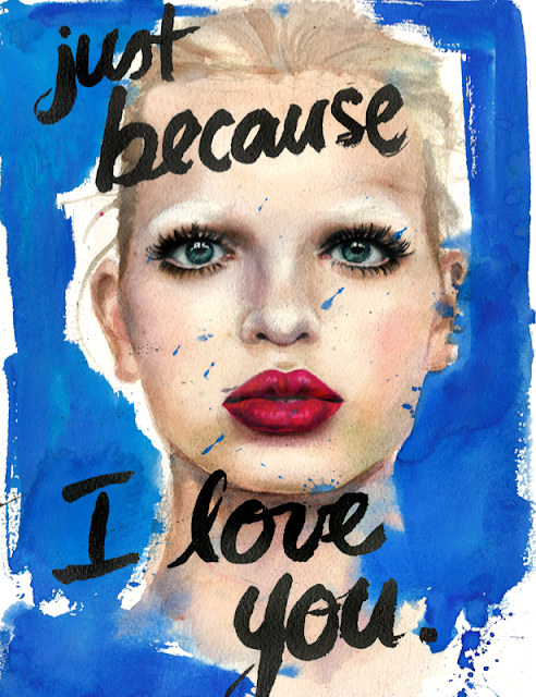"Marcela Gutiérrez ilustración ""just because I love you"""