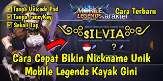 Cara Cepat Membuat Nickname Unik Mobile Legends Tanpa FancyKey