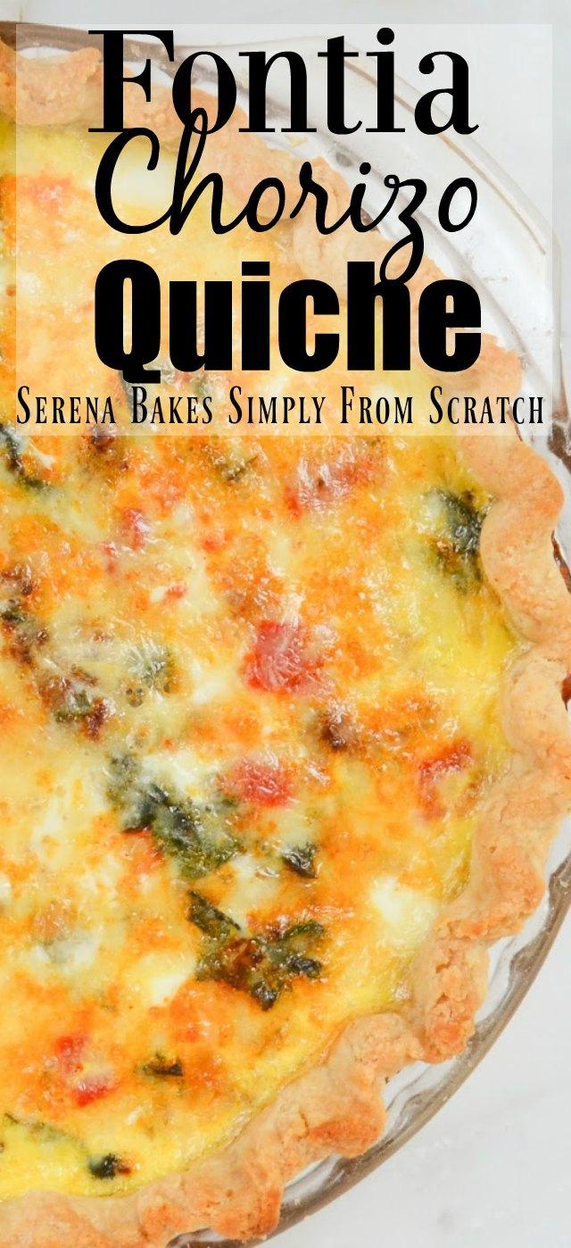 Fontina Chorizo Spinach Quiche