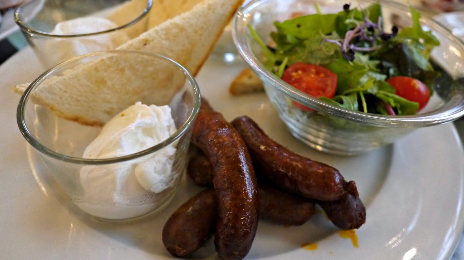 New York Cafe Budapest poached eggs hungarian sausages